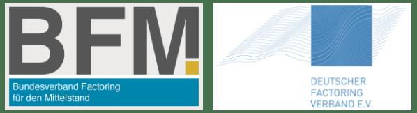 Logo der beiden Factoring-Verbände